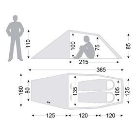 Nordisk Halland 2 Light Weight SI Namiot czerwony